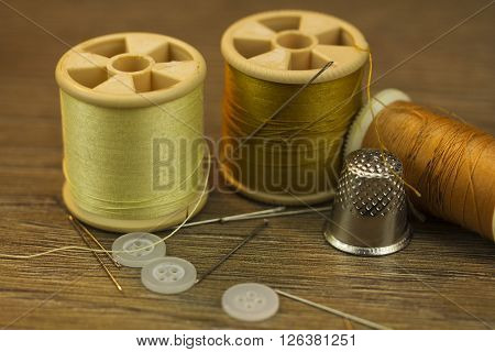 Close Up Of Sewing Equipment