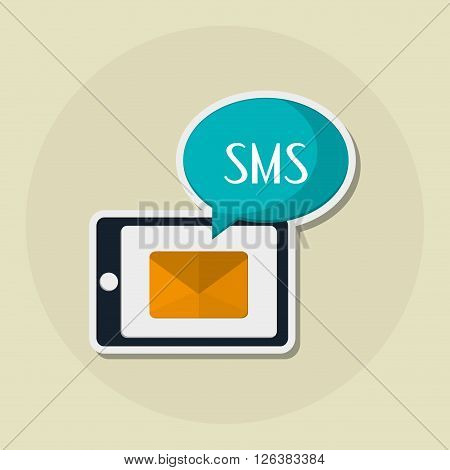 SMS concept with icon design, vector illustration 10 eps graphic.