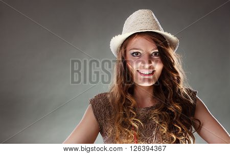 Mysterious Enigmatic Intriguing Woman Girl In Hat.