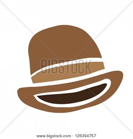 bowler hat cartoon illustration