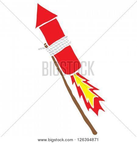 firework rocket cartoon