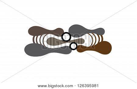 Abstract Wall Art Sticker Creative And Symbolic Logo Design Illustration