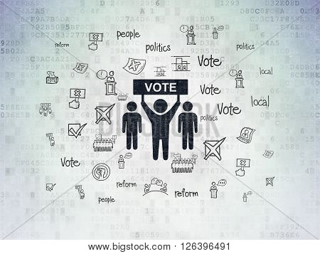 Politics concept: Election Campaign on Digital Paper background