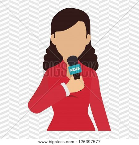 news reporter design, vector illustration eps10 graphic