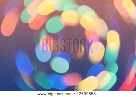 Bokeh Lights Background Retro Colorful Whirl 1