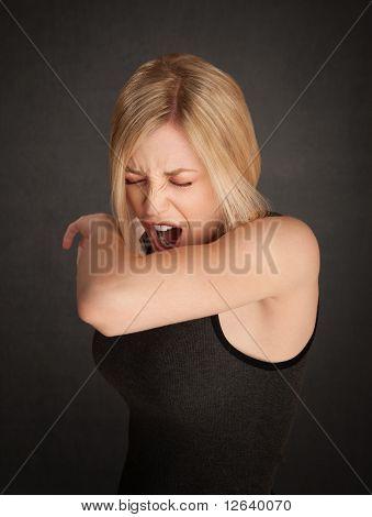 Sneezing Lady