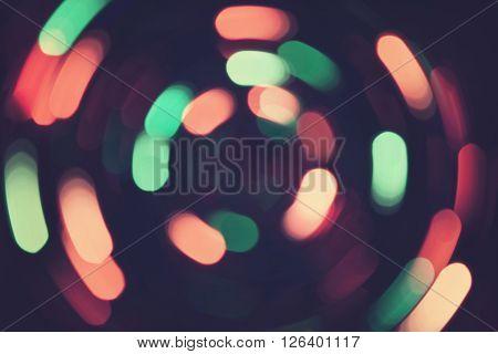 Bokeh Lights Whirl Retro Background Purple Night 2