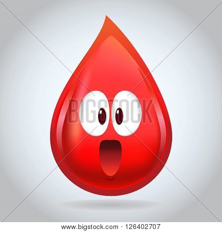 Vector stock of funny blood droplet character design