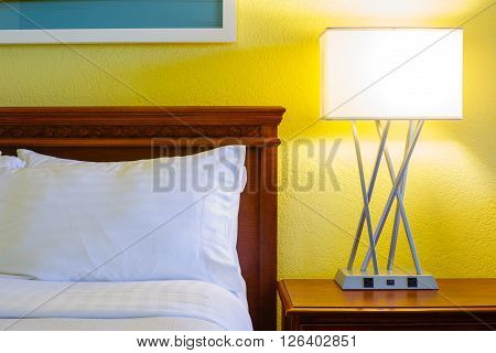 Bedroom modern design with furnishings in hotel