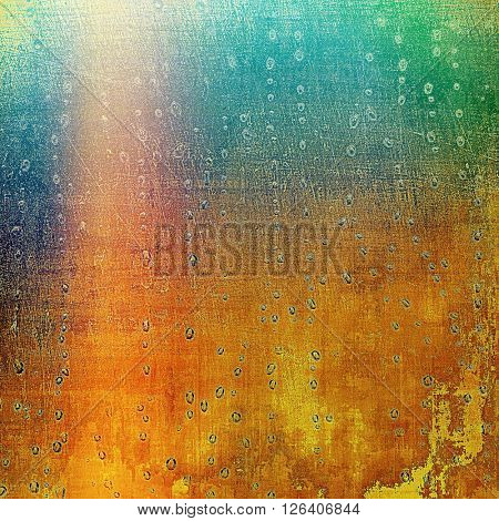 Aged grunge graphic background with shabby texture in vintage style. With different color patterns: yellow (beige); brown; red (orange); green; blue