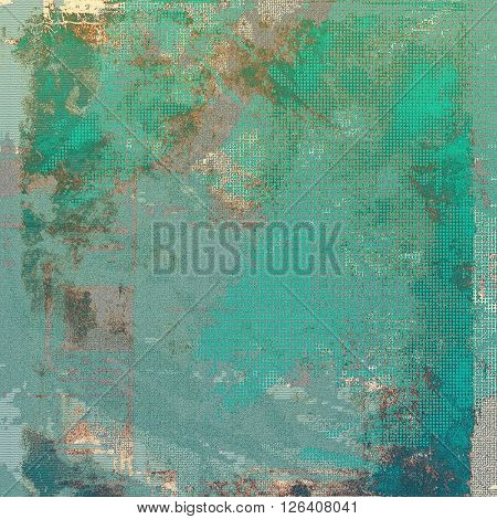 Old grungy stylish composition, vintage texture with different color patterns: brown; gray; green; blue; cyan