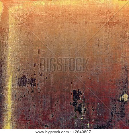 Retro style background with grungy vintage texture and different color patterns: yellow (beige); brown; gray; red (orange); purple (violet)