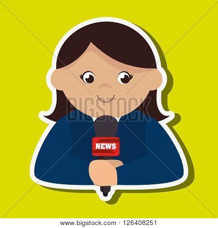 news reporter design, vector illustration eps10 graphic