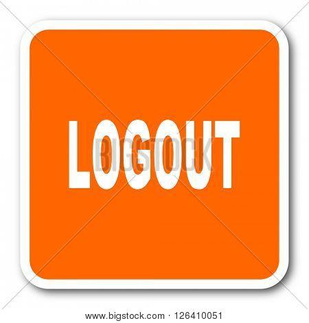 logout orange flat design modern web icon