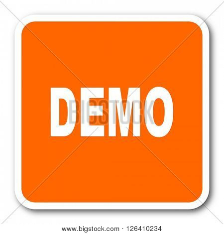 demo orange flat design modern web icon