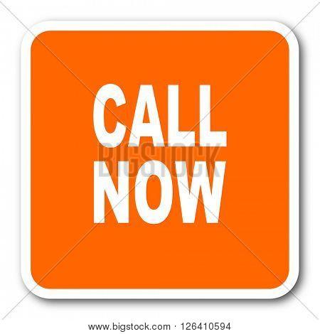 call now orange flat design modern web icon