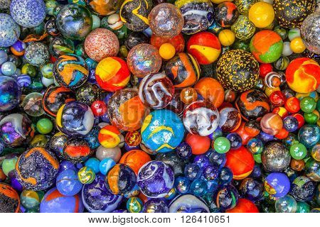 Marble Diversity Background Of Marbles In Many Colors