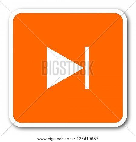 next orange flat design modern web icon