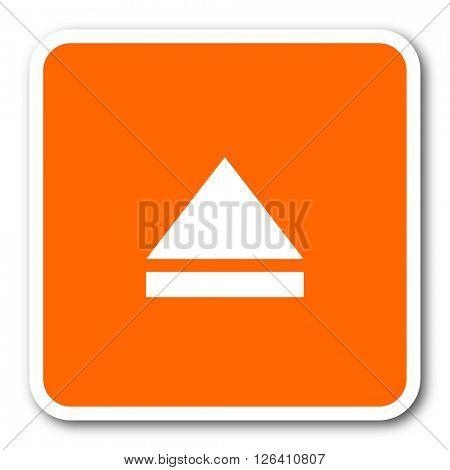 eject orange flat design modern web icon