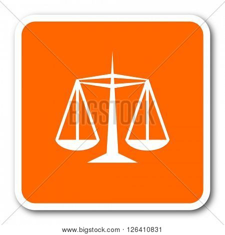justice orange flat design modern web icon