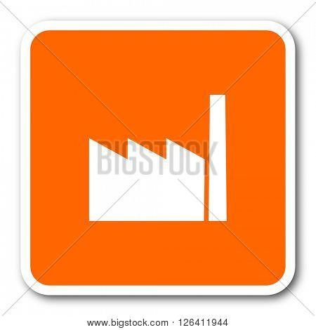 factory orange flat design modern web icon