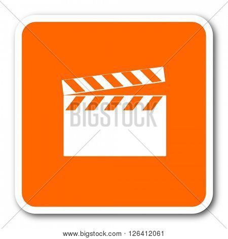 video orange flat design modern web icon
