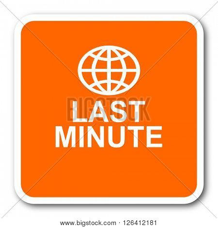 last minute orange flat design modern web icon