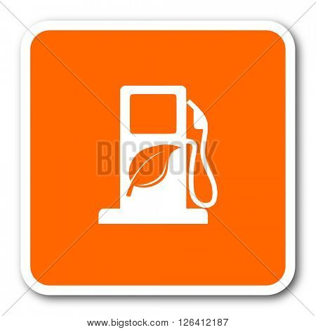 biofuel orange flat design modern web icon