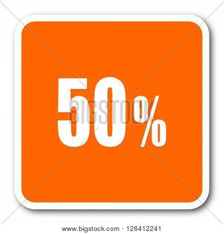 50 percent orange flat design modern web icon