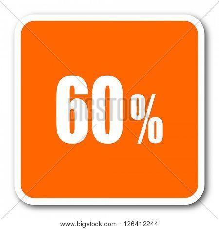 60 percent orange flat design modern web icon