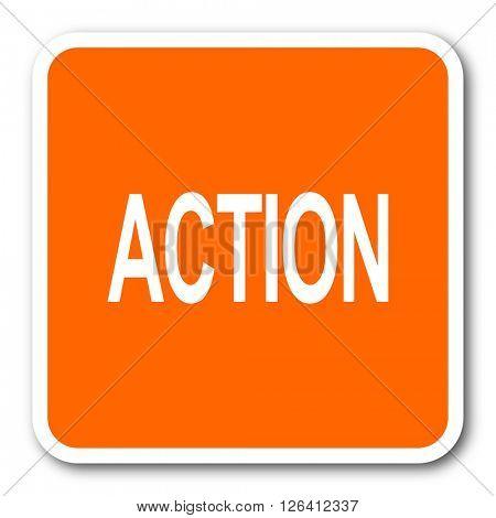 action orange flat design modern web icon