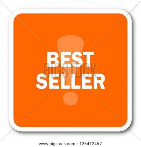 best seller orange flat design modern web icon