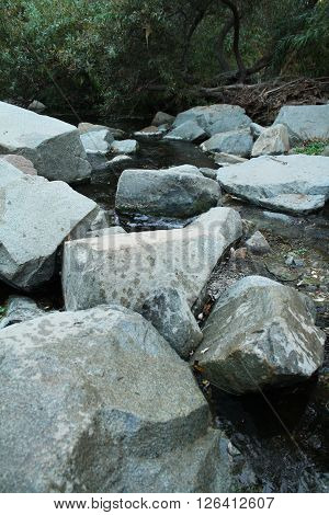 Large Mountain River Rocks (large rocks sitting in the middle of a river).