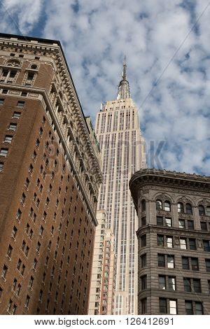 New York, NY - September 10, 2011. View of the Empire State Building. The Empire State Building is a 102-story landmark and American cultural icon in New York.