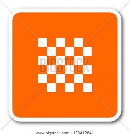 chess orange flat design modern web icon