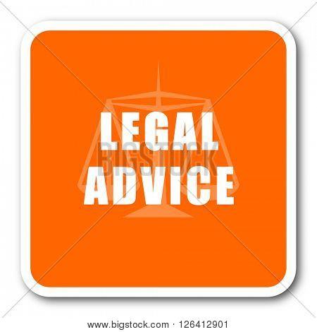 legal advice orange flat design modern web icon