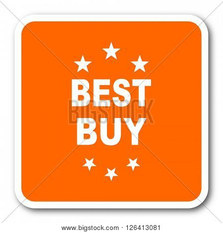 best buy orange flat design modern web icon