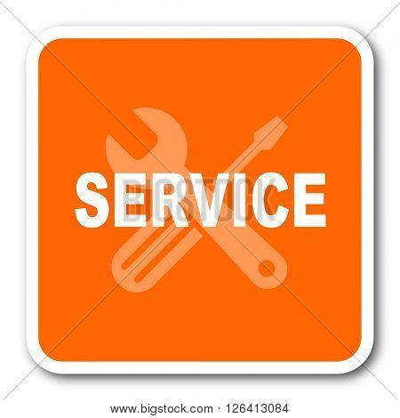 service orange flat design modern web icon