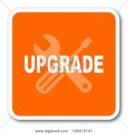upgrade orange flat design modern web icon