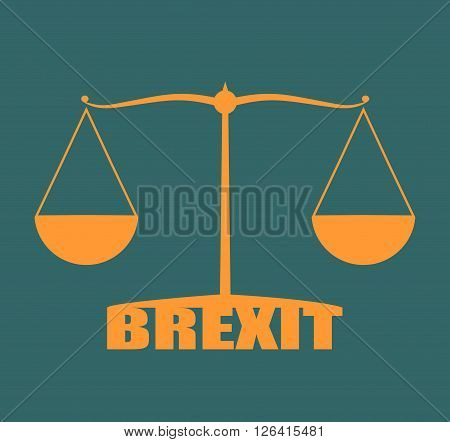 United Kingdom exit from europe relative image. Brexit named politic process. Scales balance yes or no
