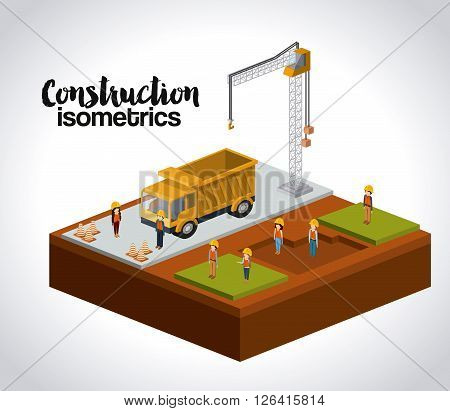 construction isometrics design, vector illustration eps10 graphic