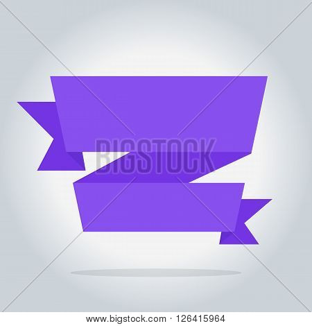 Bitmap banner isolated icon, origami style, bitmap illustration