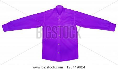 Shirt With Long Sleeves - Purple