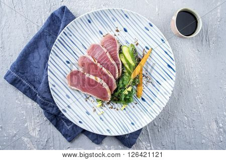 Tuna Filets with Vegetable