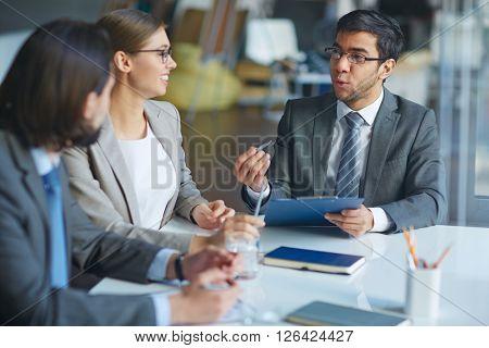 Talking at briefing