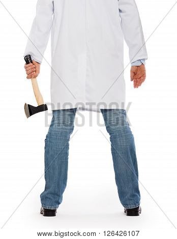 Evil Medic Holding A Small Axe