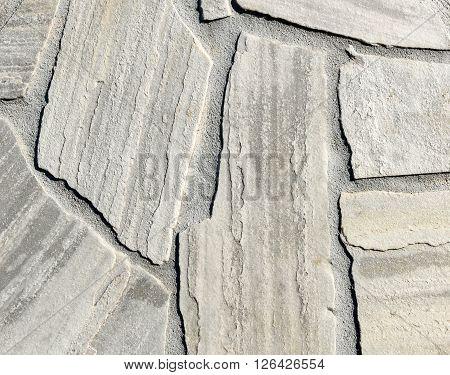 Natural White Gray Pavement Stone For Floor, Wall Or Path.