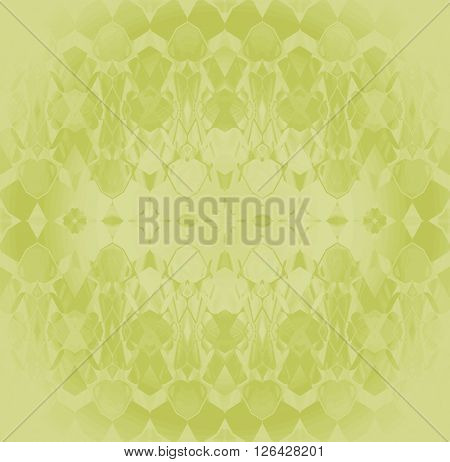 Abstract geometric seamless background. Delicate and dreamy ornament with elements in light green shades, modern and shining.