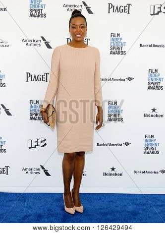Aisha Tyler at the 2016 Film Independent Spirit Awards held at the Santa Monica Beach in Santa Monica, USA on February 27, 2016.