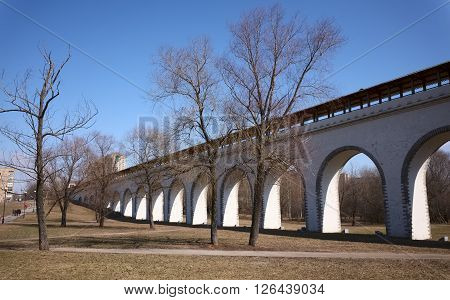 Rostokino Aqueduct also known as Millionny Bridge the oldest bridge in Moscow not rebuilt since 1804